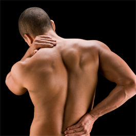 Man with backpain